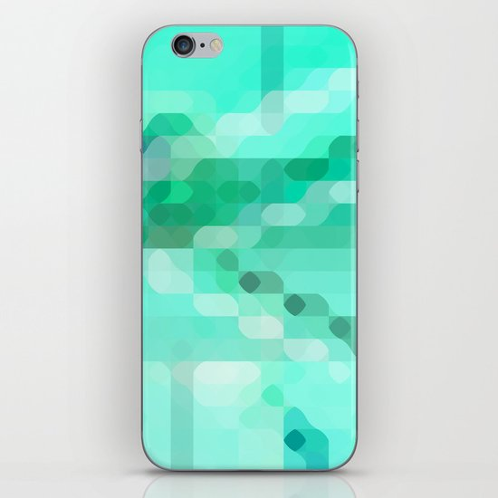colorful+mintgreen iPhone & iPod Skin