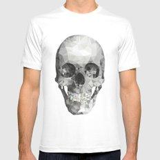 Diamond Teeth Skull  SMALL Mens Fitted Tee White
