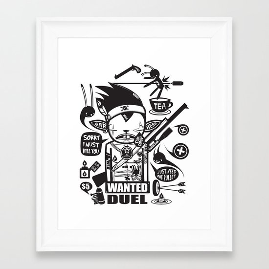SORRY I MUST KILL YOU ! - DUEL Framed Art Print