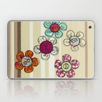 Embroidered Flower Illustration Laptop & iPad Skin