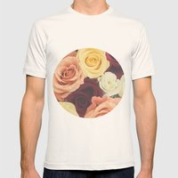 Vintage Roses II Mens Fitted Tee Natural SMALL