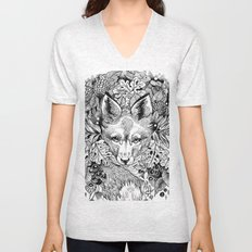 hidden fox Unisex V-Neck