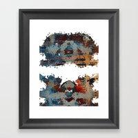 disquiet six (desintegração) Framed Art Print