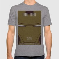 Iron Man Mens Fitted Tee Athletic Grey SMALL