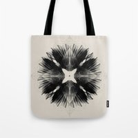 Black Flower Tote Bag
