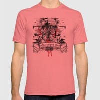 Zombie Mens Fitted Tee Pomegranate SMALL