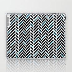 Herringbone Black and Blue Laptop & iPad Skin