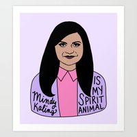 Mindy Kaling is my spirit animal Art Print