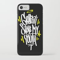 graffiti iPhone & iPod Cases featuring Graffiti by squadcore