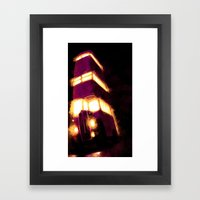 Violently Purple Framed Art Print