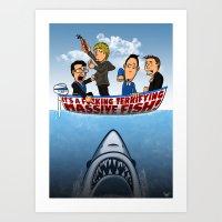 Fish Punch Art Print