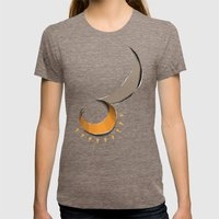 tear the night Womens Fitted Tee Tri-Coffee SMALL