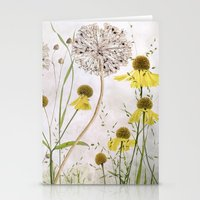 Alliums and Heleniums Stationery Cards