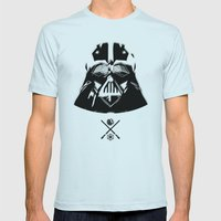 Darth. Mens Fitted Tee Light Blue SMALL