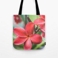 Soft Summer Plumeria Tote Bag