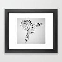 Quail In Flight Framed Art Print