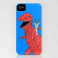 iPhone 4s & iPhone 4 Cases featuring Dinosaur B Forever by Isaboa