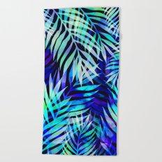 Watercolor palm pattern Beach Towel