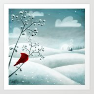 Cardinal By Friztin Art Print
