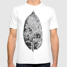old leaf Mens Fitted Tee White SMALL