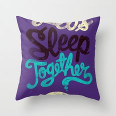 Let's Sleep Together Throw Pillow
