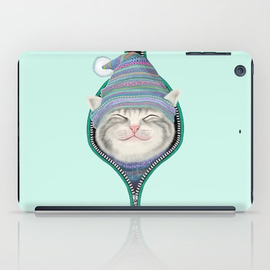 Cat in the zip iPad Case