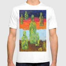 Untitled Abstract Still Life SMALL White Mens Fitted Tee