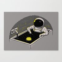 Space Bath Canvas Print