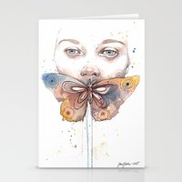 Butterfly, Watercolor Stationery Cards