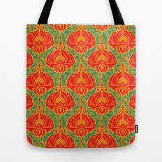 Bright vintage floral pattern Tote Bag