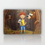 Little Boy With The Anim… Laptop & iPad Skin