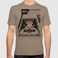 Classic cafe sign Mens Fitted Tee Tri-Coffee SMALL