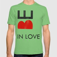 BE IN LOVE Mens Fitted Tee Grass SMALL