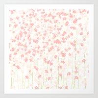 Pink Shidare Zakura Art Print