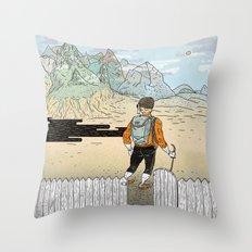 Backyard Adventure Throw Pillow