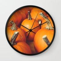 Cute Lil' Pumpkins Wall Clock