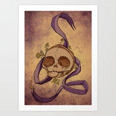 Skull and ribbon  Art Print