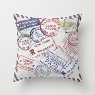 Throw Pillow featuring Send Me A Letter! by LebensART