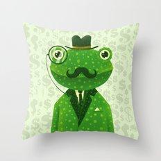 Mr. Frog Throw Pillow