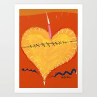 Heart on the Mend Art Print