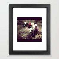Blanca Y Lobo Framed Art Print