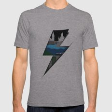Lightning Bolt Mens Fitted Tee Athletic Grey SMALL