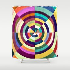 Playing Darts with Colours Shower Curtain