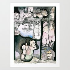 Renting house Art Print