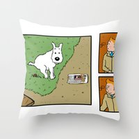 Snowy!! Throw Pillow