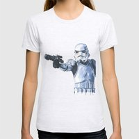 Stormtrooper Womens Fitted Tee Ash Grey SMALL