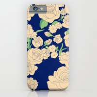 iPhone & iPod Case featuring Vintage white rose by Lauren dunn