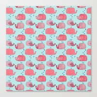 thousands of little pink wales Canvas Print