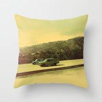 Cuban Cars Throw Pillow