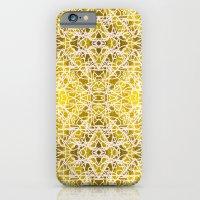 Random Rope On Gold Foil iPhone 6 Slim Case